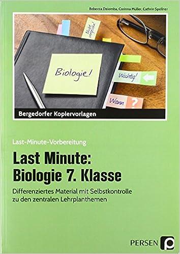Last Minute: Biologie 7. Klasse: Differenziertes Material mit ...