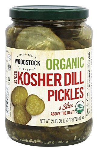 Woodstock Pickles Dill Kosher Sliced Organic, 24 oz