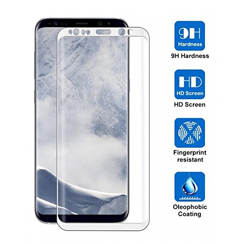 Pelicula de Vidro 3D para Samsung Galaxy S9 SM-G960 - Branca