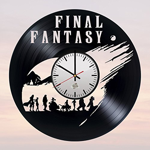 Final Fantasy Video Game Design Vinyl Record Wall Clock – Wonderful home, garage or office wall art decoration – Fancy gift idea for his or her Review