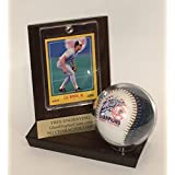 Baseball & Trading Card Personalized Wood and Acrylic Display Case with Cherry Finish - Free Engraving