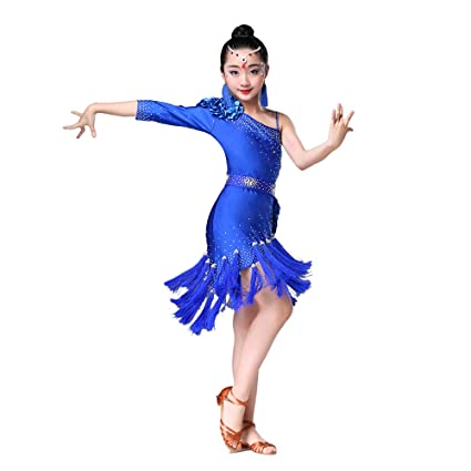 Amazon.com: Childrens Dance Costumes, Girls Bright Tassels ...