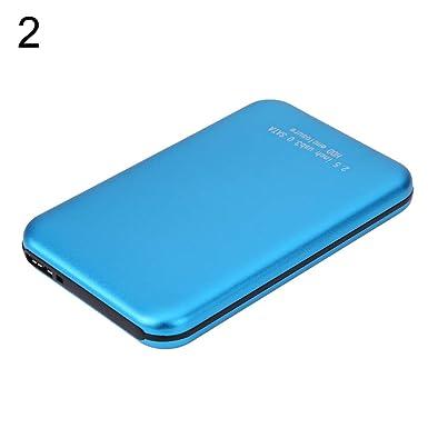 Amazon.com: Caja de disco duro USB 3.0 SATA de 2,5 pulgadas ...