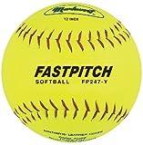 Markwort Fastpitch 12-Inch Softball Yellow Genuine Leather (Dozen)