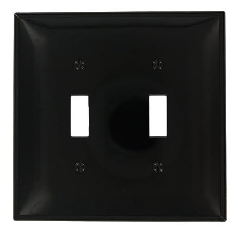 leviton pj2e 2gang toggle switch wallplate midway size black