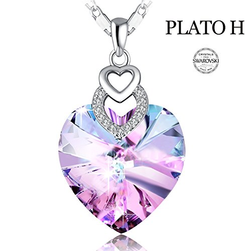 heart crystal necklace - 4