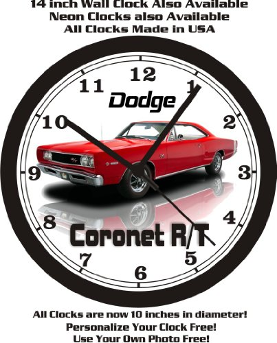 1968 DODGE CORONET R/T WALL CLOCK-FREE USA SHIP