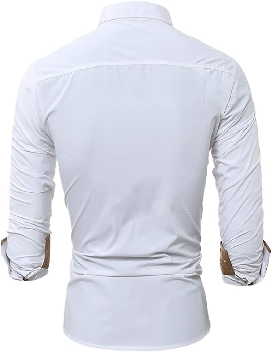 Fieer Mens Bridal Oversize Formal Button Skinny Tshirt Top Shirt