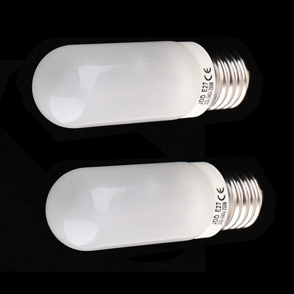 Homyl Lot de 2 220-240Volt Halog/ène JDD Type Tubulaire E27 Ampoule Photographie 250W