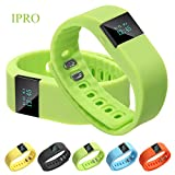 IPRO TW64 Werable Smart Band Fitness Tracker for Kids/Women Health Pedometer Sleep Calorie Monitor Waterproof Wrist Band Bluetooth Wristbands Exercise Bracelet for Android& iphone 4S/5C/6/6 plus (Green)