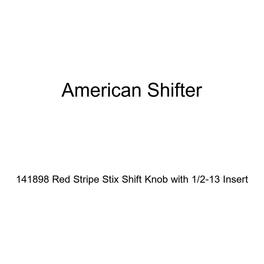 American Shifter 141898 Red Stripe Stix Shift Knob with 1//2-13 Insert