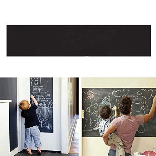 s - 200x40cm Chalkboard Blackboard Stickers Removable Vinyl Draw Erasable Kids Learning Office Notice - Music Ocean Little Siwa Goodnight Still Dots Heros Name Window Moon Living Uni