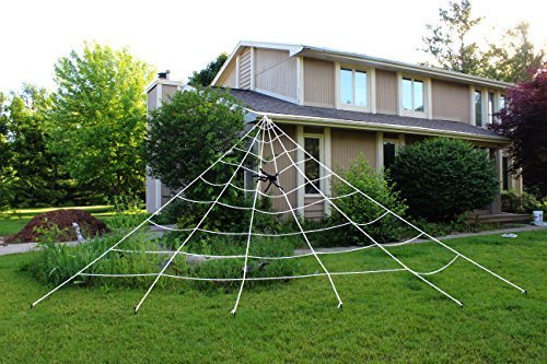 : Spooktacular Creations 23X18ft Triangular Mega Spider Web for Outdoor Halloween Decoration