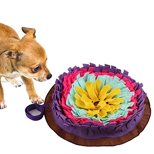 Langxian Pet Snuffle Mat,Feeding Mat for Dogs,Small/Large Dog Training Pad Pet Sniffing Mat for Preventing Digestive Problems, Encourages Natural Foraging Skills,Stress Release (Purple) Review