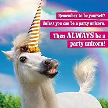 Horse With Party Hat Birthday