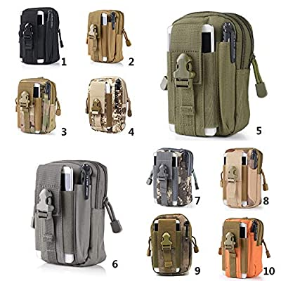 KathShop D30 Molle Waist Bags Waterproof Men's Nylon Work Belt Bag Army Military Waist Pack Portable Bags