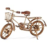 "Spokes Replica Bicycle, 8""Hx14""W, ANT. GOLD & BLK"