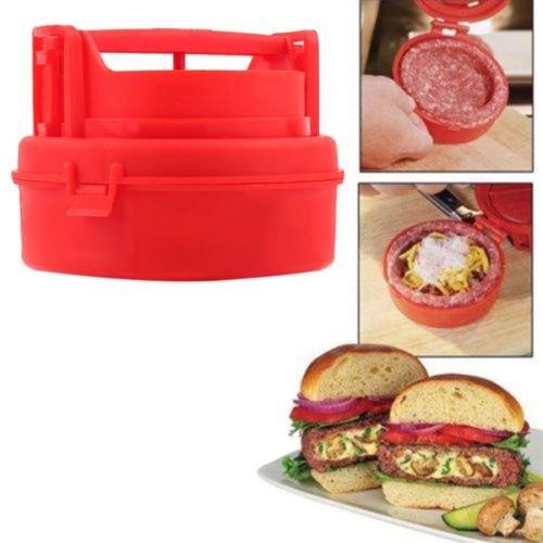 Alicenter(TM) New Stuffed Burger Making Press Hamburger Maker Kitchen Cooking Tool F