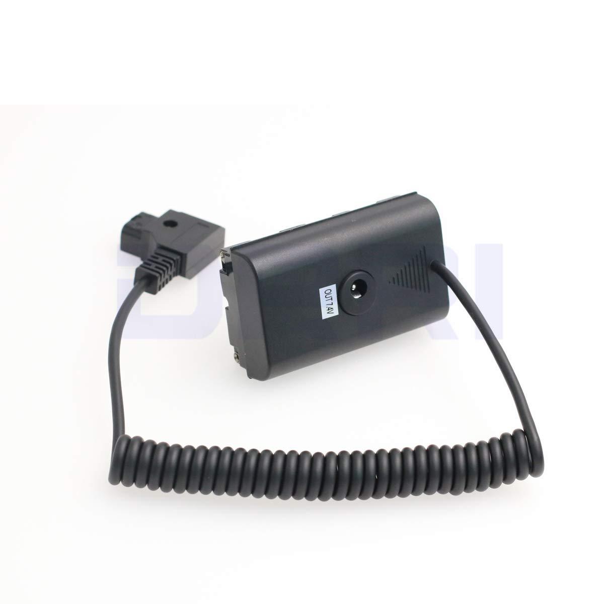 Amazon.com: DRRI F550 NP-F970 DC Coupler Dtap Adapter Cable ...