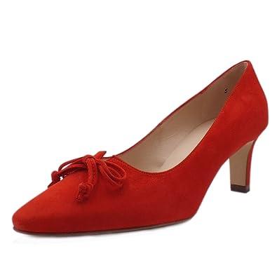 07798f6423b4 Peter Kaiser Mizzy Milieu Talon Relevé Toe Escarpins en Corail Rouge 4.5  Coral Red  Amazon.fr  Chaussures et Sacs