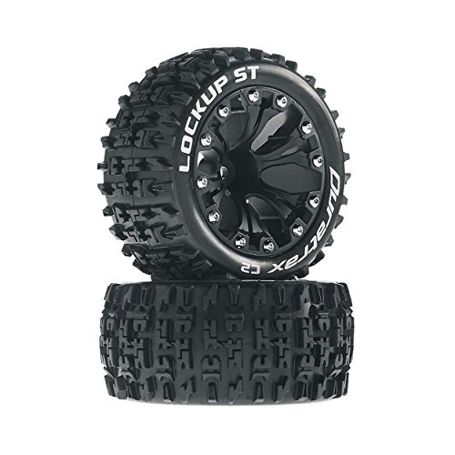 Duratrax DTXC3568 Lockup RC Staduim Truck Tires with Foam Inserts, C2 Soft Compound, ST 2.8
