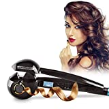 Royal-First Full-Automatic Hair Curler Ceramic Iron Roller Wave Machine with US plug LCD Display Wand curls,Black Color
