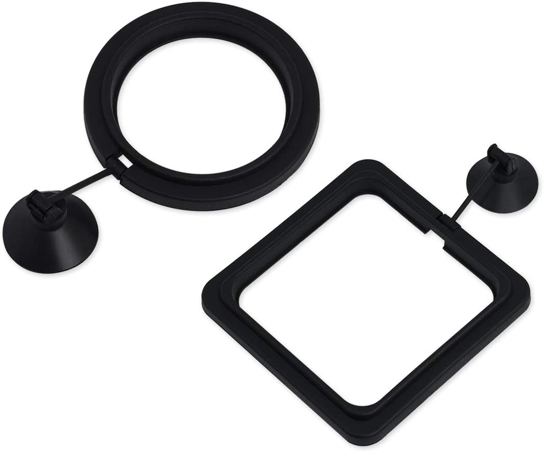 DS. DISTINCTIVE STYLE Fish Feeding Ring 2 Pieces Aquarium and Tank Floating Rings Food Feeders with Suction Cup