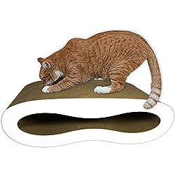 Premium Cat Scratcher Lounge Bed - White Acrylic