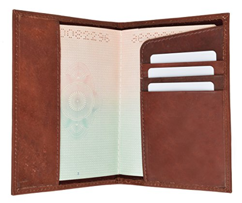 GENUINE LEATHER PASSPORT COVER HOLDER WALLET