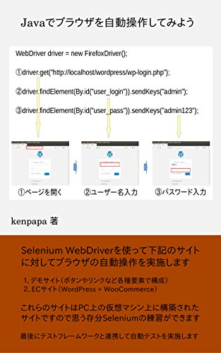 Lets operate the browser automatically in Java (Japanese Edition