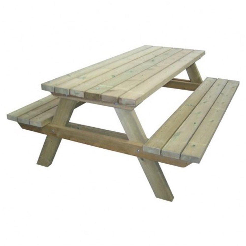 tavolo con panche da pic-nic in legno cm 200x148x70 h: amazon.it ... - Tavolo Panca Da Giardino