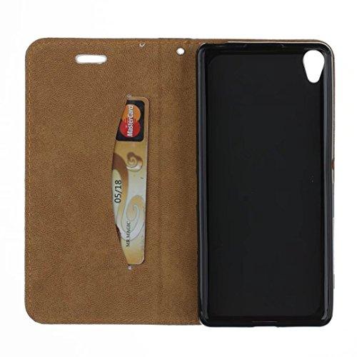 COWX Sony Xperia XA Hülle Kunstleder Tasche Flip im Bookstyle Klapphülle mit Weiche Silikon Handyhalter PU Lederhülle für Sony Xperia XA Tasche Brieftasche Schutzhülle für Sony Xperia XA schutzhülle