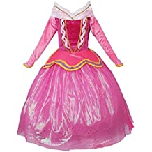 JerrisApparel Princess Aurora Dress Girl Party Dress Ceremony Fancy Costume