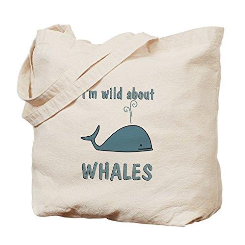 Bolso de totalizador de CafePress salvaje sobre las ballenas - bolso de mano