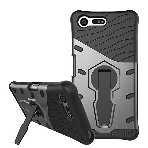 Slim Armor TPU/PC Cover Case for Sony Xperia X (Black) - 1