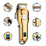Mens Hair Clippers Cordless Gold, Household