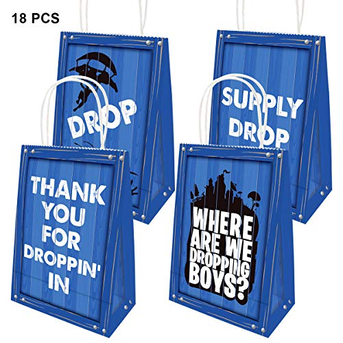 Drop Game Party Bags Goody Favor Bag for Kids Adults Birthday Gift 18 Pack]()