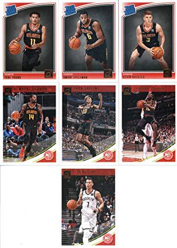 2018-19 Donruss Basketball Atlanta Hawks Team Set of 7 Cards: (Rookies included) Jeremy Lin(#16), Taurean Prince(#26), John Collins(#36), Dewayne Dedmon(#46), Kevin Huerter(#184), Omari Spellman(#196), Trae Young(#198)