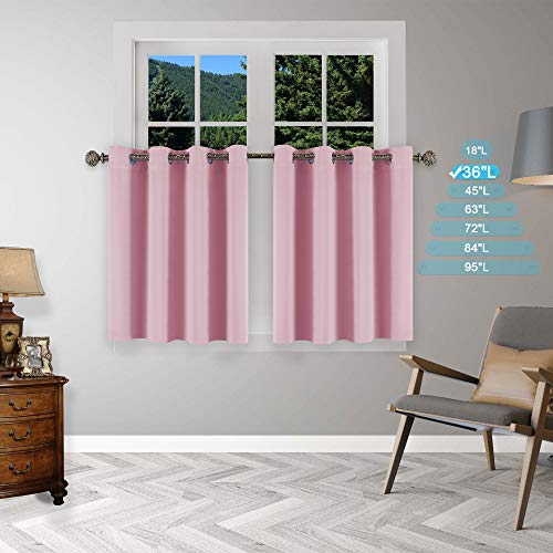 YGO Window Curtain Tiers Valances Set Home Decorative, used for sale  Delivered anywhere in USA