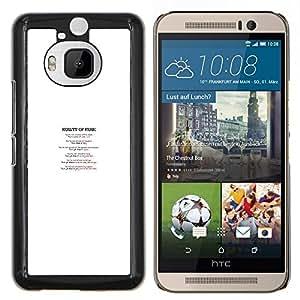 KLONGSHOP // Cubierta de piel con cierre a presión Shell trasero duro de goma Protección Caso - Reality Of Fear - HTC One M9Plus M9+ M9 Plus //