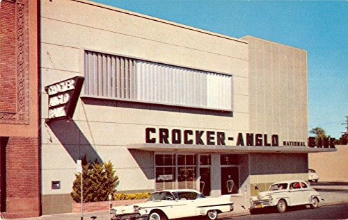 Crocker Bank - Merced California Crocker Anglo Bank Building Vintage Postcard K3985