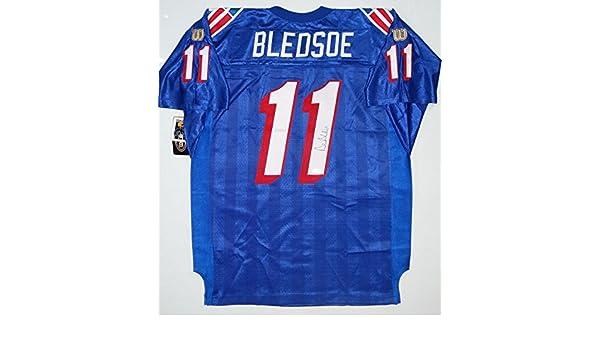 new product 24320 37868 Drew Bledsoe Autographed Patriots Wilson Authentic Jersey ...