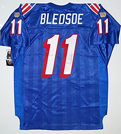 a787d8532b4 Drew Bledsoe Autographed Patriots Wilson Authentic Jersey - Beckett Auth R1  at Amazon's Sports Collectibles Store