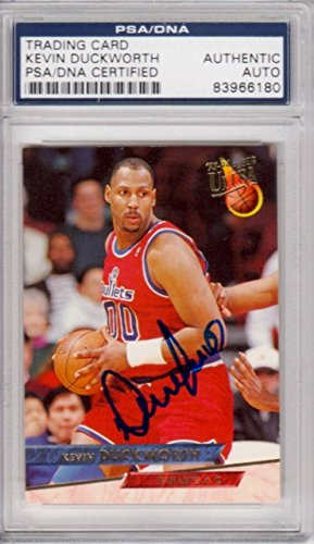 Kevin Duckworth Washington Bullets 1993 Fleer Ultra Signe...