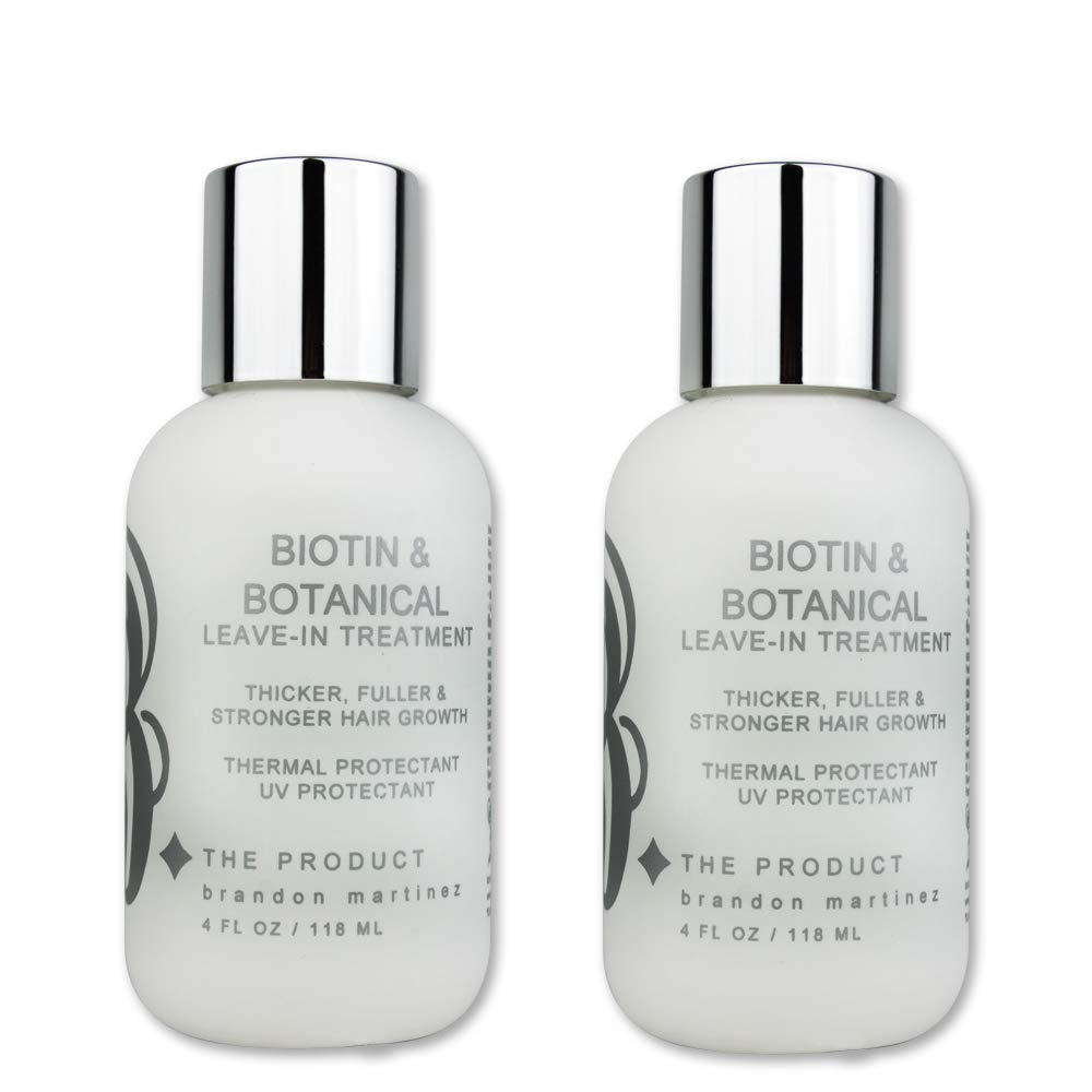 Biotin Vitamin Leave-In Conditioner (HIGH POTENCY) Hair Growth Serum & Treatment-B THE PRODUCT 4oz. (2-Pack) by B THE PRODUCT