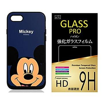 f21b9d33f0 ディズニー iPhone7 ケース + 液晶保護ガラスフィルム 【 ミッキーマウス 】 iPhone 7 / アイフォン