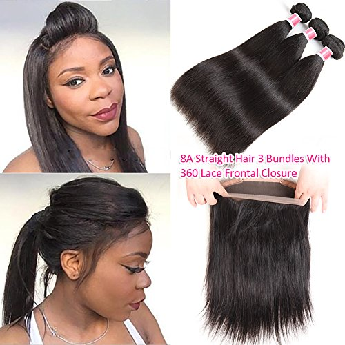 360-Lace-Frontal-with-Bundles-8A-Brazilian-straight-Hair-3-Bundles-with-360-Frontal-100-Virgin-Human-Hair-360-Lace-Frontal-Closure-with-Baby-Hair-22-24-26-with-20