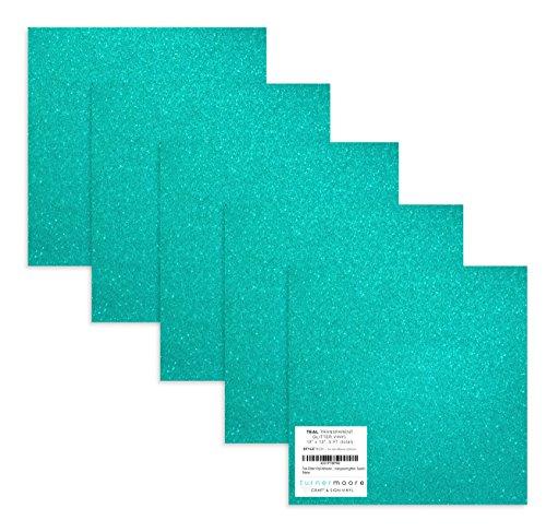 (Turner Moore Edition, Teal Glitter Vinyl Adhesive - 12
