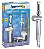 New! Aquaus 360° Premium Cloth Diaper Sprayer w/ thumb pressure controls on the sprayer- EZ pressure control makes rinsing cloth diapers quick & easy, preventing overspray & splattering