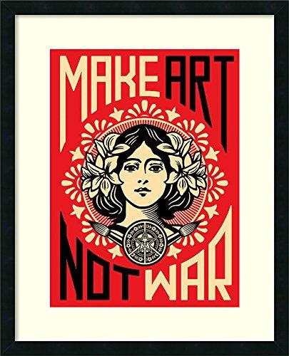 (Framed Art Print, 'Make Art Not War' by Shepard Fairey: Outer Size 24 x 30